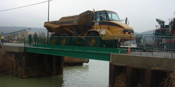 ponts provisoires jumieges