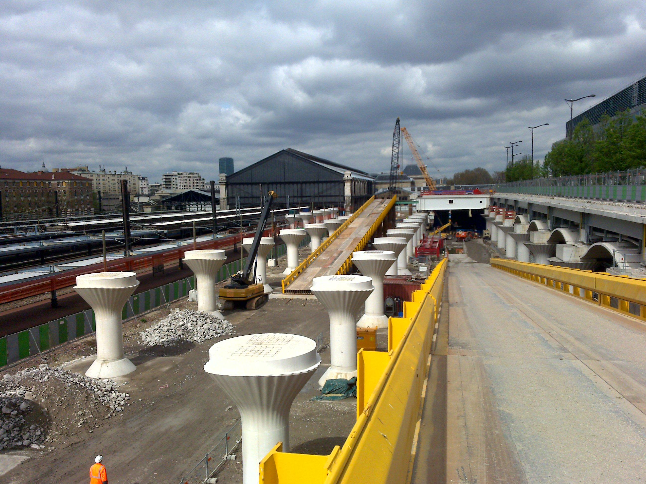 ponts provisoires paris